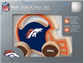 Denver Broncos NFL Baby Push & Pull Wooden Toy *CLOSEOUT*
