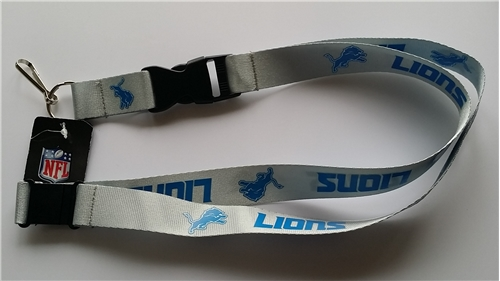 Detroit Lions NFL Grey Lanyard *NEW*