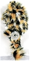 Green Bay Packers NFL Fluffy Plush Dangle Hat *NEW*