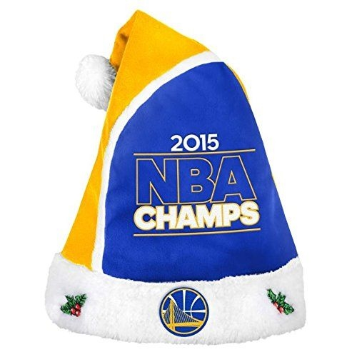 Golden State Warriors 2015 NBA Champs Basic HOLIDAY 18'' Christmas Santa Hat