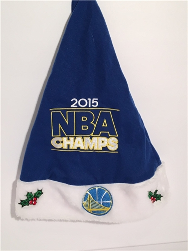 Golden State Warriors 2015 NBA Champs Solid HOLIDAY 18'' Christmas Santa Hat