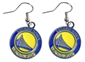 Golden State Warriors NBA Gold Dangle Earrings