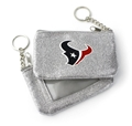 Houston Texans NFL Silver Sparkle Coin Purse Key Ring *NEW*