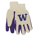 Washington Huskies NCAA Two Tone Sport Utility Work Gloves *SALE*