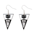LA Kings NHL Team Pennant Silver Dangle Earrings *CLOSEOUT*