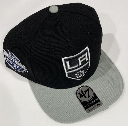 Los Angeles Kings NHL Black Sure Shot Adjustable Captain Snapback Hat *NEW*