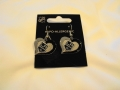 LA Kings NHL Silver Swirl Heart Dangle Earrings *SALE*