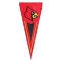 "Louisville Cardinals NCAA 34"" x 14"" Embroidered 1-Sided Yard & Wall Pennant Flag *CLOSEOUT*"