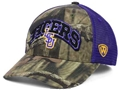 LSU Tigers NCAA Top of the World Camo Trapper Meshback Snapback Hat *SALE*