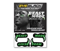 Marshawn Lynch BEAST MODE 4 Pack Eye Black Strips **CLOSEOUT**