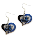 Dallas Mavericks NBA Silver Swirl Heart Dangle Earrings