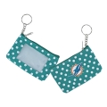 Miami Dolphins NFL Nylon Polka Dot Coin Purse Key Ring