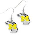 Michigan Wolverines State Design NCAA Dangle Earrings *NEW*
