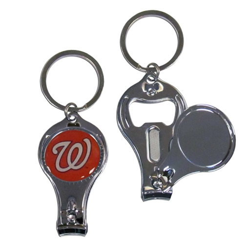 Washington Nationals MLB 3 in 1 Metal Key Chain 12ct box *CLOSEOUT*