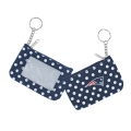 New England Patriots NFL Nylon Polka Dot Coin Purse Key Ring