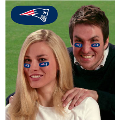 New England Patriots NFL Vinyl Face Decorations 6 Pack Eye Black Strips
