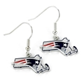 New England Patriots State Design NFL Dangle Earrings *NEW*