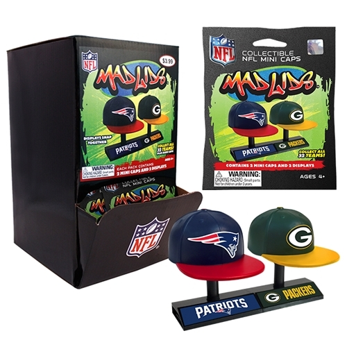 Mad Lids NFL Series 1 Gravity Feed Display 32 Pack Box *NEW*