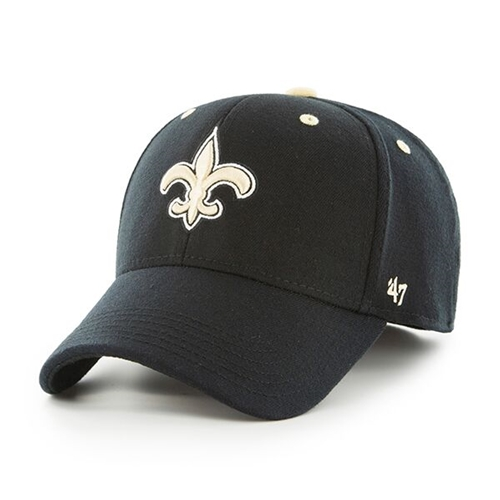 New Orleans SAINTS NFL Black Kick Off Contender Stretch Fit Hat *NEW* Size L/XL