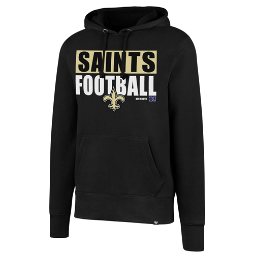 NEW Orleans Saints NFL Jet Black Headline Pullover Men's Hoodie *LAST ONE* Size 2XL
