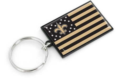New Orleans SAINTS NFL Americana Flag Keychain *NEW*