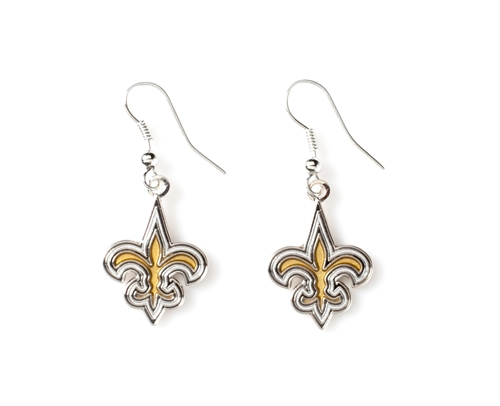 New Orleans SAINTS NFL Dangle Earrings