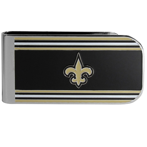 New Orleans SAINTS NFL Team Color MVP Steel Money Clip *NEW*