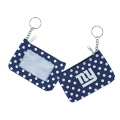 New York Giants NFL Nylon Polka Dot Coin Purse Key Ring