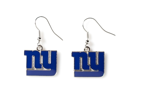 NEW York Giants NFL Silver Dangle Earrings
