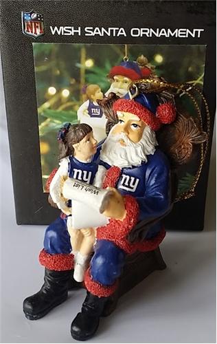 New York Giants NFL Resin Wish Santa Ornament *SALE*