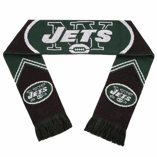 NEW York Jets Reversible Stripe NFL 60'' Team Knit Scarf
