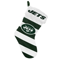 "New York Jets NFL Striped Holiday 17"" Christmas Stocking"