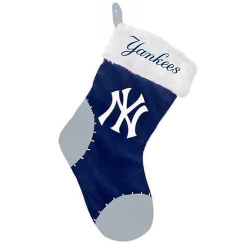 New York YANKEES MLB Basic Logo Plush 17'' Christmas Stocking