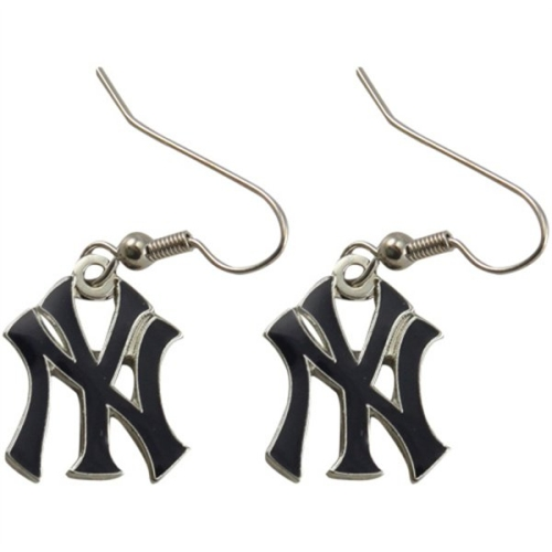 NEW York Yankees MLB Silver Dangle Earrings