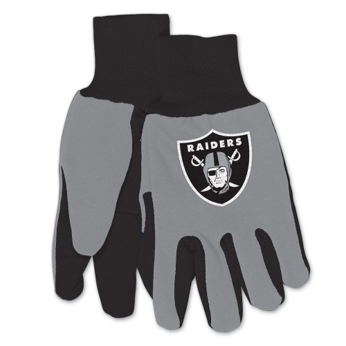Oakland Raiders NFL 2 Tone Sport Utility Work Gloves *NEW*