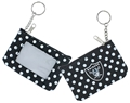 Oakland Raiders NFL Nylon Polka Dot Coin Purse Key Ring