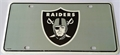Oakland Raiders 2nd Design NFL Printed Metal License Plate Tag *NEW*