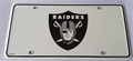 Oakland Raiders 3rd Design NFL Printed Metal License Plate Tag *NEW*