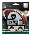 Oakland Raiders NFL Wooden Toy Train *NEW*