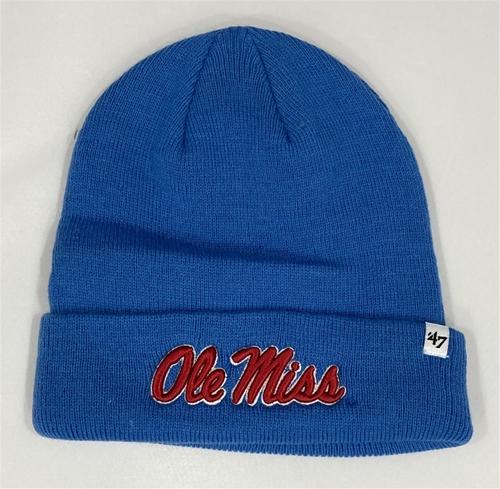 Ole Miss Rebels NCAA Blue Raz Raised Knit Cuff Cap *NEW*