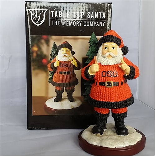 Oregon State Beavers NCAA Table Top Resin Santa FIGURINE *CLOSEOUT*