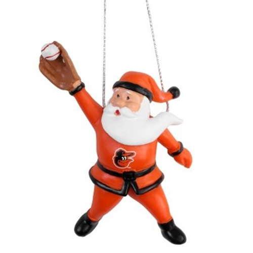 Baltimore Orioles MLB Action Santa Ornament *SALE*
