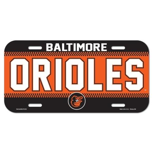 Baltimore Orioles Name MLB Souvenir Plastic LICENSE PLATE *CLOSEOUT*