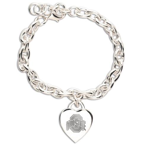 Ohio State Buckeyes NCAA Heart CHARM Bracelet *CLOSEOUT*