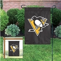 "Pittsburgh Penguins NHL 15""x10.5"" Embroidered 1-Sided Garden Flag *NEW*"