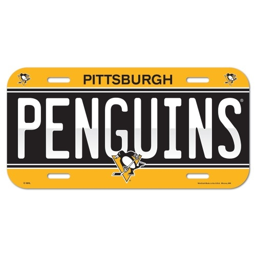 Pittsburgh Penguins NHL Souvenir Plastic LICENSE PLATE *SALE*