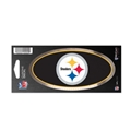 "Pittsburgh Steelers NFL 3"" x 7"" Chrome Decal"