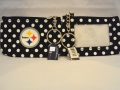 Pittsburgh Steelers NFL Nylon Polka Dot Coin Purse Key Ring