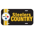 Pittsburgh Steelers Country NFL Souvenir Plastic License Plate *NEW*
