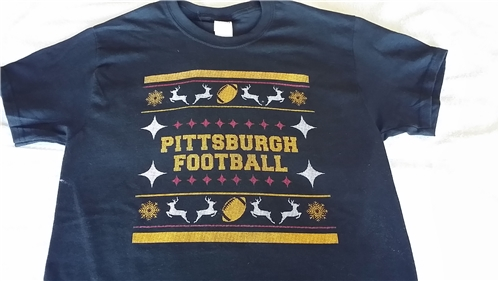 Pittsburgh Football Ugly Christmas Sweater T SHIRT - Size 2XL *SALE*